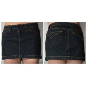 "Dresses & Skirts - Cute Short ""Risky"" Jean Dark Denim Jean Skirt 27"